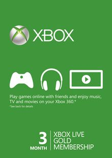 3 Month Xbox Live Gold Membership Card (Xbox One/360) cheap key to download