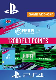 12000 FIFA 19 Points PS4 PSN Code - UK account chiave a buon mercato per il download