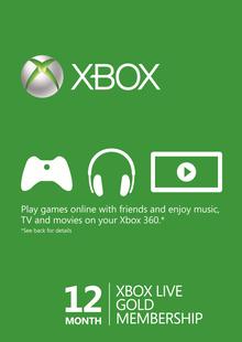 12 Month Xbox Live Gold Membership (Xbox One/360) BRAZIL chiave a buon mercato per il download