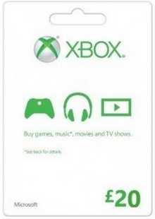 Microsoft Gift Card - £20 (Xbox One/360) cheap key to download