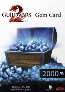 Guild Wars 2 2000 Gem Points Card (PC) chiave a buon mercato per il download