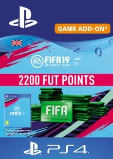 2200 FIFA 19 Points PS4 PSN Code - UK account