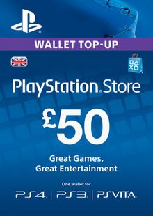 Playstation Network (PSN) Card - £50 (UK) chiave a buon mercato per il download