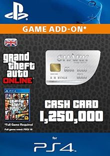 Grand Theft Auto Online (GTA V 5): Great White Shark Cash Card PS4 cheap key to download