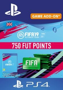 750 FIFA 19 Points PS4 PSN Code - UK account cheap key to download