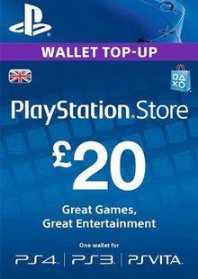 Playstation Network Card - £20 (PS Vita/PS3/PS4) cheap key to download