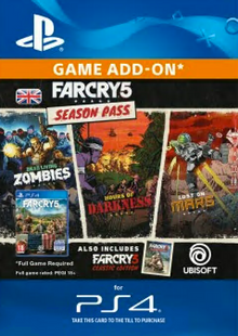 Far Cry 5 Season Pass PS4 cheap key to download