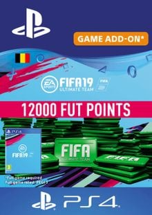 Fifa 19 - 12000 FUT Points PS4 (Belgium) cheap key to download