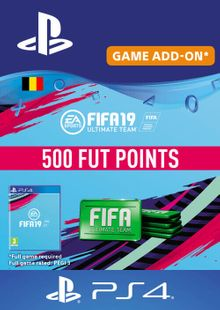 Fifa 19 - 500 FUT Points PS4 (Belgium) cheap key to download