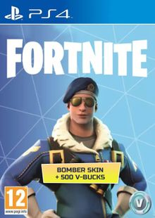 Fortnite Bomber Skin + 500 V-Bucks PS4 cheap key to download