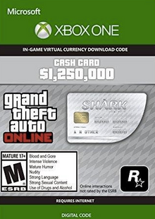 GTA V 5 Great White Shark Cash Card - Xbox One Digital Code cheap key to download