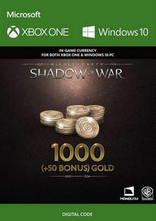 Middle-Earth: Shadow of War - 1050 Gold Xbox One cheap key to download