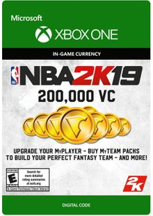 NBA 2K19: 200,000 VC Xbox One cheap key to download