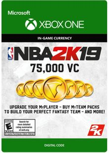 NBA 2K19: 75,000 VC Xbox One cheap key to download