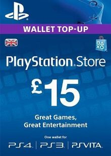 PlayStation Network Card - £15 (PS Vita/PS3/PS4) chiave a buon mercato per il download