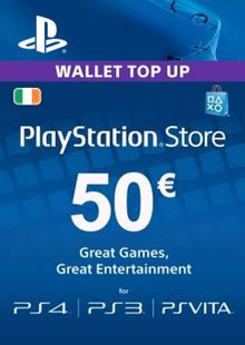 PlayStation Network (PSN) Card - 50 EUR (Ireland) cheap key to download
