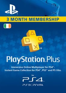 PlayStation Plus - 3 Month Subscription (Ireland) cheap key to download