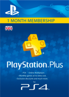PlayStation Plus (PS+) - 1 Month Subscription (UK) cheap key to download