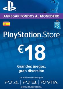 PlayStation Network (PSN) Card - 18 EUR (Spain) chiave a buon mercato per il download