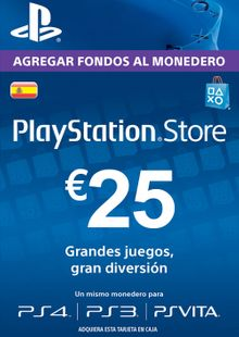 PlayStation Network (PSN) Card - 25 EUR (Spain) cheap key to download