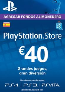 PlayStation Network (PSN) Card - 40 EUR (Spain) cheap key to download