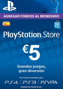 PlayStation Network (PSN) Card - 5 EUR (Spain) chiave a buon mercato per il download