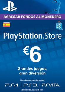 PlayStation Network (PSN) Card - 6 EUR (Spain) cheap key to download