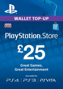 Playstation Network Card - £25 (PS Vita/PS3/PS4) chiave a buon mercato per il download