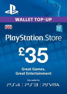 Playstation Network Card - £35 (PS Vita/PS3/PS4) chiave a buon mercato per il download