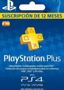 PlayStation Plus (PS+) - 12 Month Subscription (Spain) cheap key to download