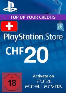 PlayStation Network (PSN) Card - 20 CHF (Switzerland) chiave a buon mercato per il download