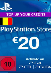 PlayStation Network (PSN) Card - 20 EUR (Belgium) cheap key to download