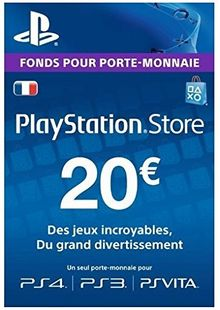 PlayStation Network (PSN) Card - 20 EUR (France) chiave a buon mercato per il download