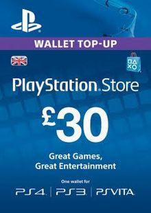Playstation Network (PSN) Card - 30 GBP