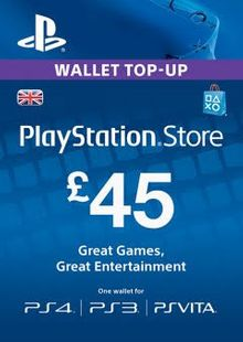 Playstation Network (PSN) Card - 45 GBP cheap key to download