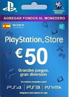 PlayStation Network (PSN) Card - 50 EUR (Spain) cheap key to download
