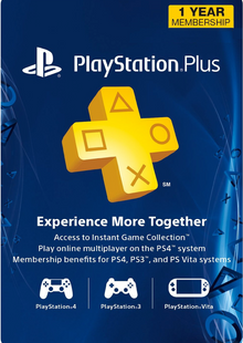 1-Year PlayStation Plus Membership (PS+) - PS3/PS4/PS Vita Digital Code (USA) cheap key to download