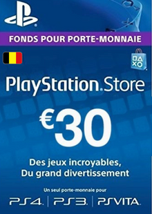 PlayStation Network (PSN) Card - 30 EUR (Belgium) cheap key to download