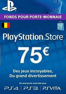 PlayStation Network (PSN) Card - 75 EUR (Belgium) cheap key to download