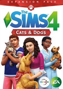 The Sims 4: Cats and Dogs Expansion PC/Mac cheap key to download