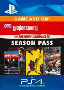 Wolfenstein II: The Freedom Chronicles Season Pass PS4 cheap key to download