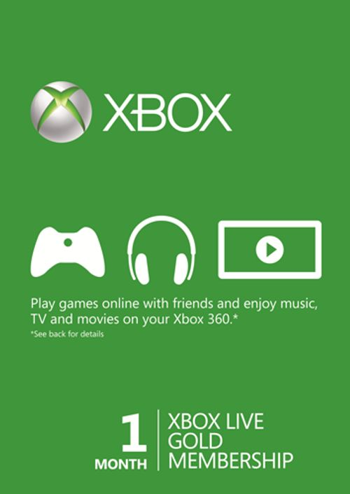 1 Month Xbox Live Gold Membership (Xbox 360)