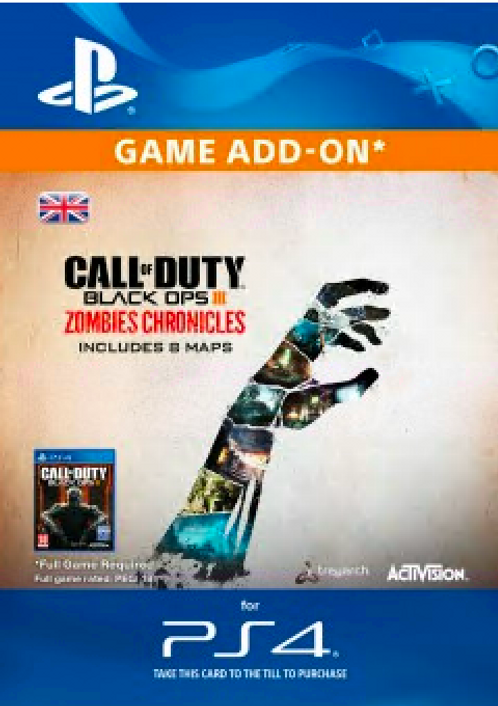 call of duty black ops 3 zombie chronicles ps4 cd key kaufen. Black Bedroom Furniture Sets. Home Design Ideas