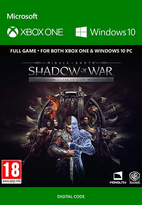 middle earth shadow of war silber edition xbox one pc cd. Black Bedroom Furniture Sets. Home Design Ideas