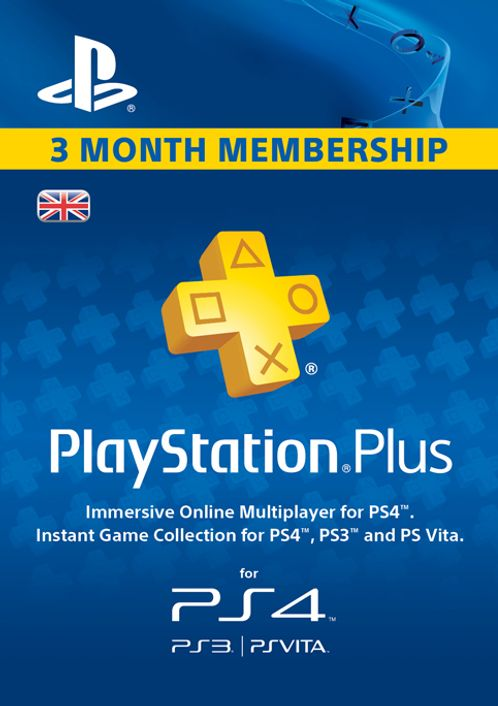 PlayStation Plus - 3 Month Subscription (UK)