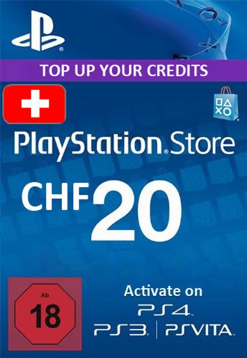 PlayStation Network (PSN) Card - 20 CHF (Switzerland)
